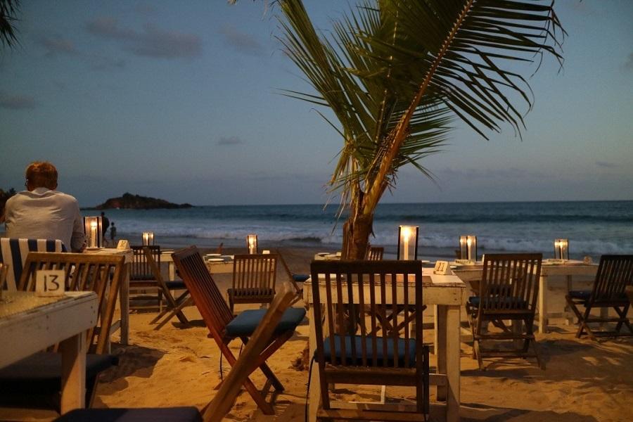 Шри-Ланка прибрежный ресторан